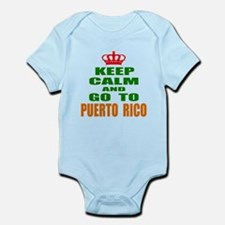 Keep calm and go to Puerto Rico Infant Bodysuit