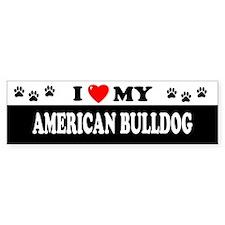AMERICAN BULLDOG Bumper Bumper Sticker