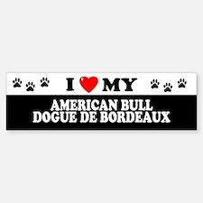 AMERICAN BULL DOGUE DE BORDEAUX Bumper Bumper Bumper Sticker