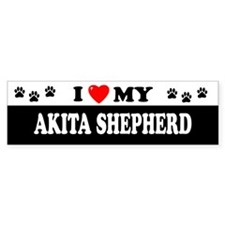 AKITA SHEPHERD Bumper Bumper Sticker
