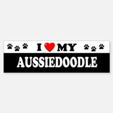 AUSSIEDOODLE Bumper Car Car Sticker