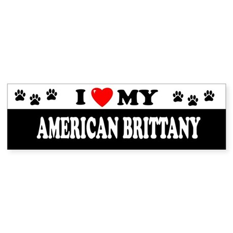 AMERICAN BRITTANY Bumper Sticker