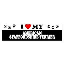 AMERICAN STAFFORDSHIRE TERRIER Bumper Bumper Sticker