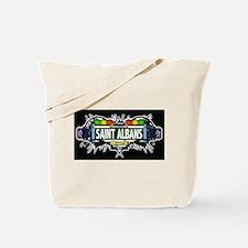 Saint Albans (Black) Tote Bag