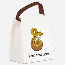 Horned Rattlesnake Canvas Lunch Bag