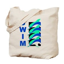 Swim Dolphins Tote Bag