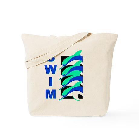 Swim Dolphins Tote Bag