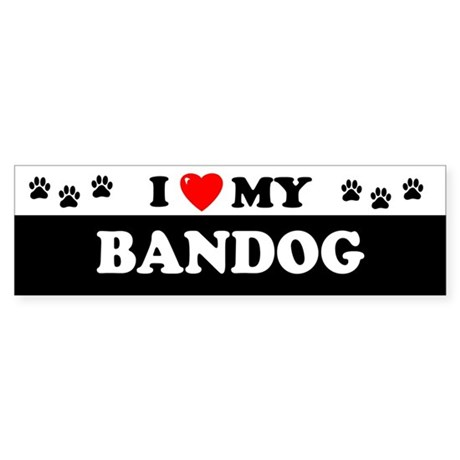 BANDOG Bumper Sticker