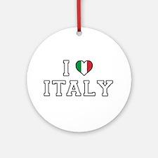 I Love Italy Round Ornament