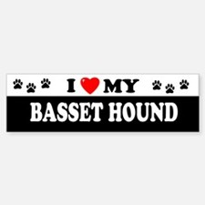 BASSET HOUND Bumper Bumper Bumper Sticker