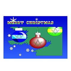 Masonic Christmas Tree Postcards (Package of 8)