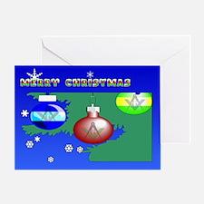 Masonic Christmas Tree Greeting Card