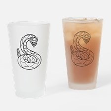 Diamondback Rattlesnake Drinking Glass
