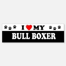 BULL BOXER Bumper Bumper Bumper Sticker