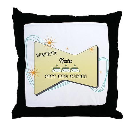 Instant Knitter Throw Pillow