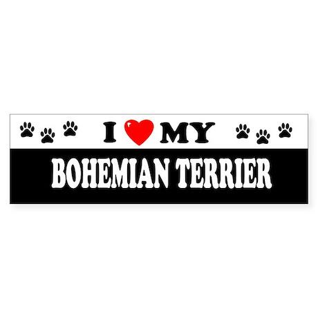 BOHEMIAN TERRIER Bumper Sticker