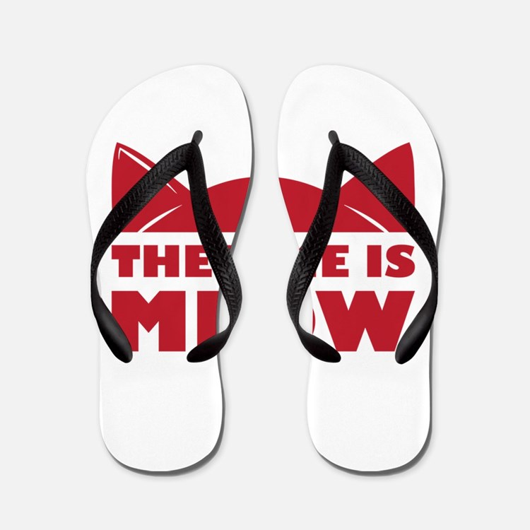 Time Is Meow Flip Flops