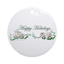 Westhighland Terrier Happy Ho Ornament (Round)