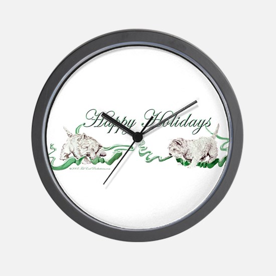 Westhighland Terrier Happy Ho Wall Clock