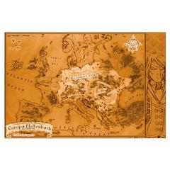 Poster-Map of Europa Wulfenbach