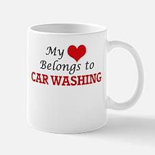 My heart belongs to Car Washing Mugs