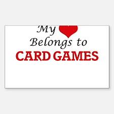 My heart belongs to Card Games Decal