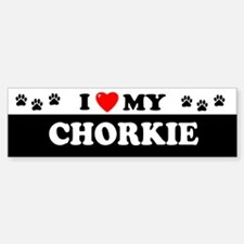 CHORKIE Bumper Bumper Bumper Sticker
