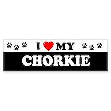 CHORKIE Bumper Bumper Sticker
