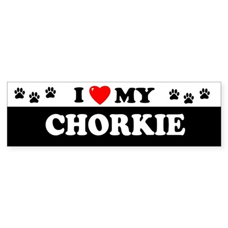 CHORKIE Bumper Sticker
