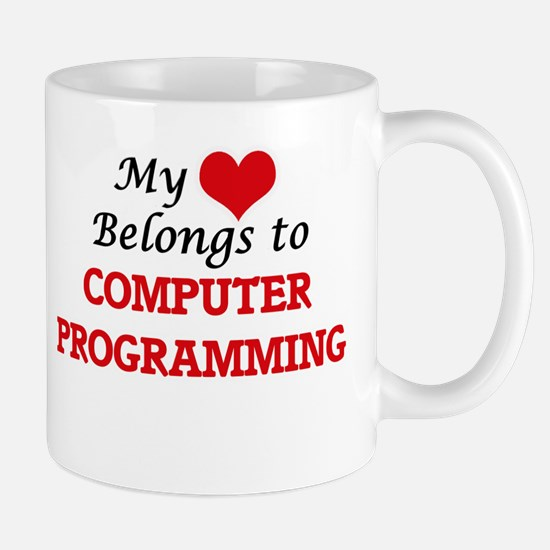 My heart belongs to Computer Programming Mugs