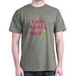 Santa's Top 8 Dark T-Shirt
