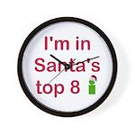 Santa's Top 8 Wall Clock