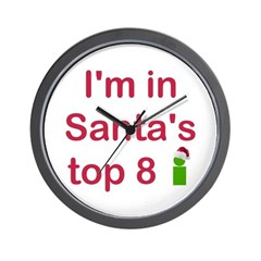Santa's Top 8 Wall Clock