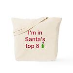 Santa's Top 8 Tote Bag