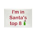 Santa's Top 8 Rectangle Magnet (100 pack)
