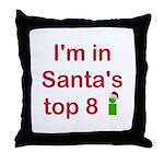 Santa's Top 8 Throw Pillow