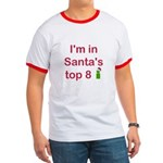 Santa's Top 8 Ringer T