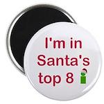 Santa's Top 8 Magnet
