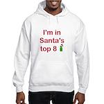 Santa's Top 8 Hooded Sweatshirt