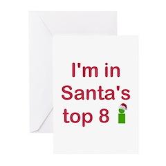 Santa's Top 8 Greeting Cards (Pk of 10)