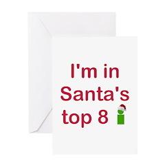 Santa's Top 8 Greeting Card
