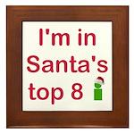 Santa's Top 8 Framed Tile