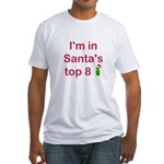 Santa's Top 8 Fitted T-Shirt
