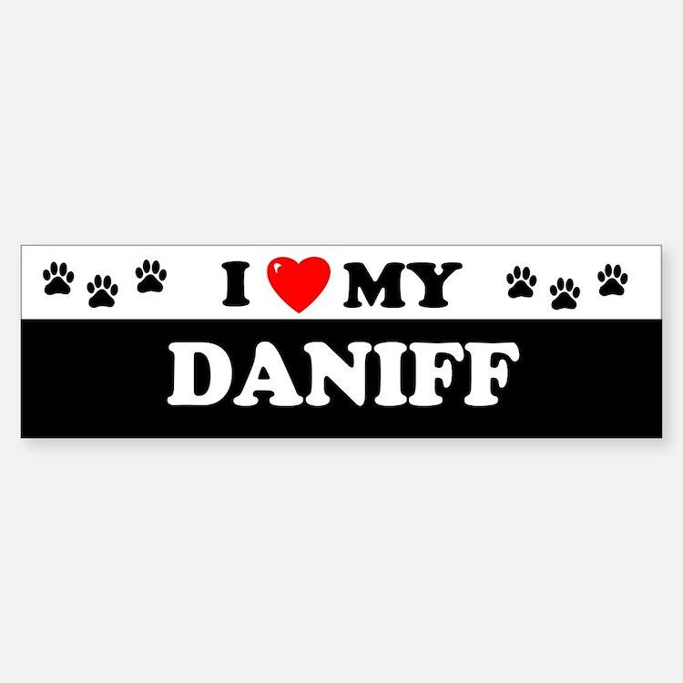DANIFF Bumper Bumper Bumper Sticker