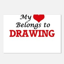My heart belongs to Drawi Postcards (Package of 8)