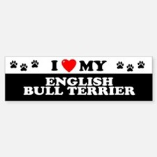 ENGLISH BULL TERRIER Bumper Bumper Bumper Sticker
