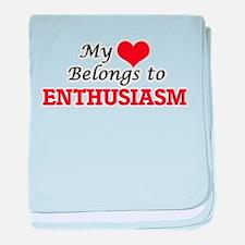 My heart belongs to Enthusiasm baby blanket