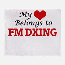 My heart belongs to Fm Dxing Throw Blanket