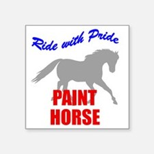 Ride With Pride Paint Horse Rectangle Sticker