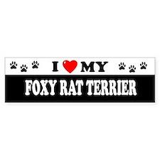 FOXY RAT TERRIER Bumper Bumper Sticker